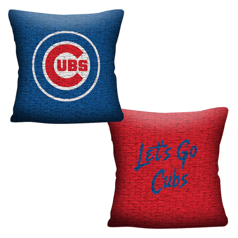 MLB Chicago Cubs INVERT Throw Pillow - Bed, Bath, And My Team