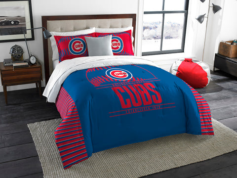 MLB Chicago Cubs KING Comforter and Sham Set - Bed, Bath, And My Team
