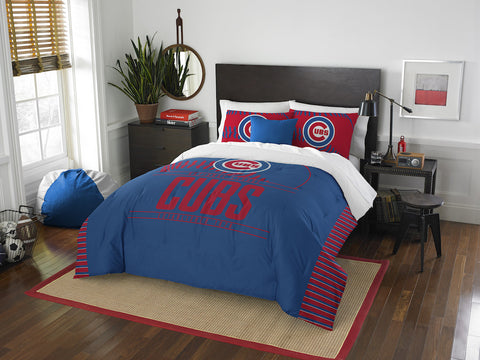 MLB Chicago Cubs Queen/Full Comforter and Sham Set - Bed, Bath, And My Team