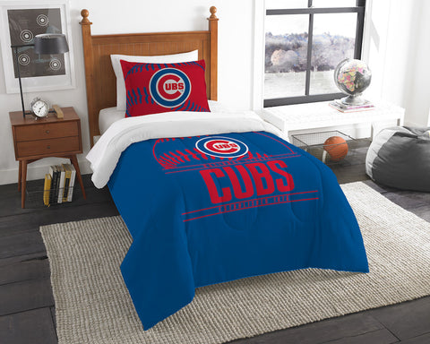 MLB Chicago Cubs Twin Comforter and Pillow Sham - Bed, Bath, And My Team