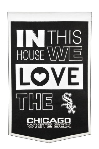 MLB Chicago White Sox HOME Hanging Wool Banner - Bed, Bath, And My Team
