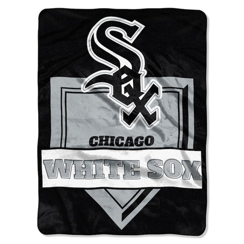 MLB Chicago White Sox 60 x 80 Large Plush Raschel Throw Blanket - Bed, Bath, And My Team