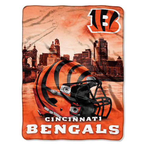 Cincinnati Bengals large silk touch blanket