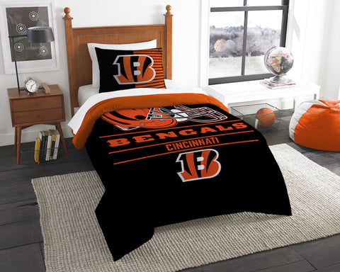 Cincinnati Bengals twin comforter and pillow sham