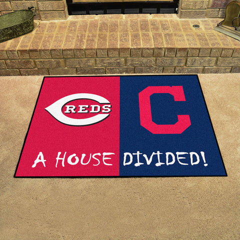 Cincinnati RedsCleveland Indians Rivalry Rug