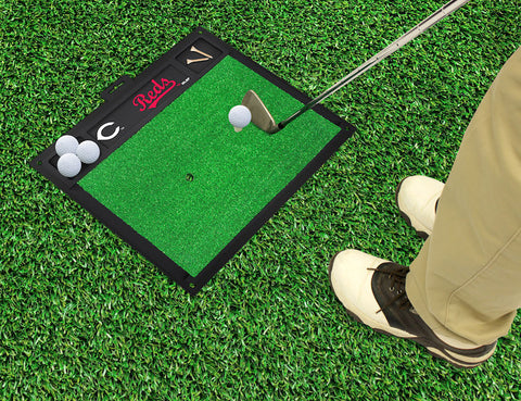 Cincinnati Reds Golf Ball Hitting Mat
