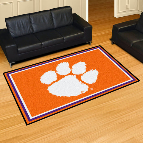NCAA Clemson Tigers 5 X 8 Ft. Area Rug - Bed, Bath, And My Team