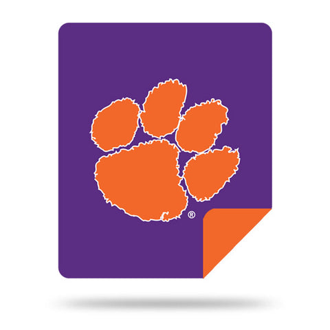 NCAA Clemson Tigers 60 x 72 DENALI Silver Knit Throw Blanket - Bed, Bath, And My Team
