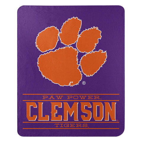 NCAA Clemson Tigers Fleece Throw ~ 50 x 60 - Bed, Bath, And My Team