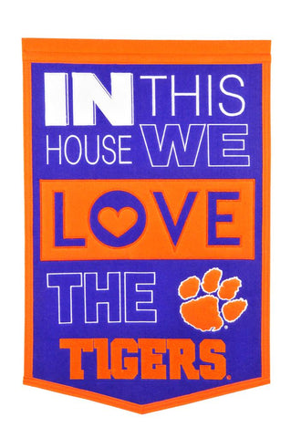 NCAA Clemson Tigers HOME Hanging Wool Banner - Bed, Bath, And My Team