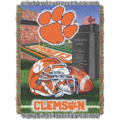 NCAA Clemson Tigers HOME FIELD ADVANTAGE Tapestry - Bed, Bath, And My Team