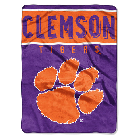 NCAA Clemson Tigers 60 x 80 Large Plush Raschel Throw Blanket - Bed, Bath, And My Team