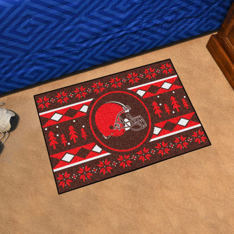 NFL Cleveland Browns CHRISTMAS SWEATER Starter Rug - Bed, Bath, And My Team