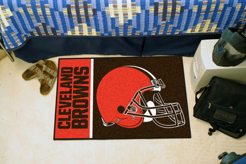 NFL Cleveland Browns Uniform Inspired STARTER Rug - Bed, Bath, And My Team