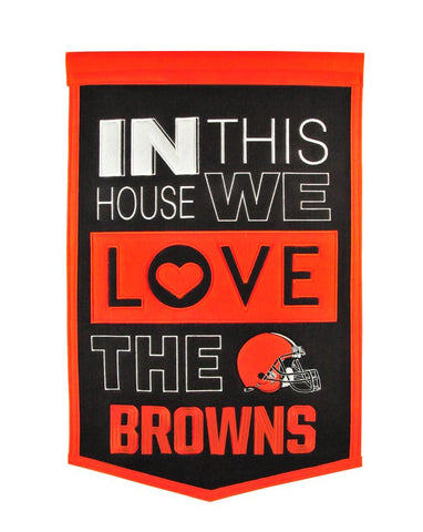 NFL Cleveland Browns HOME Hanging Wool Banner - Bed, Bath, And My Team