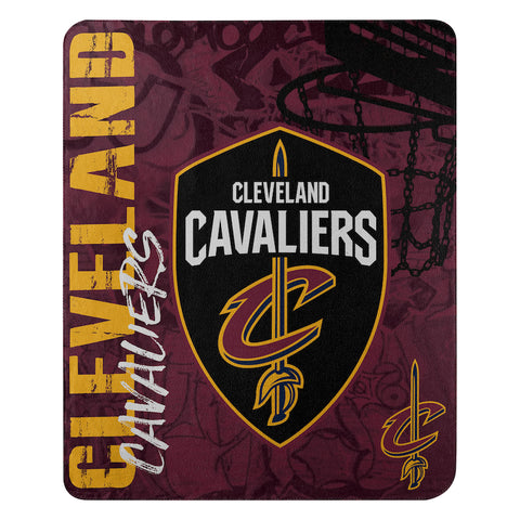NBA Cleveland Cavaliers Fleece Throw ~ 50 x 60 - Bed, Bath, And My Team