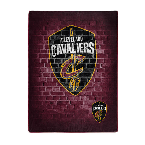 NBA Cleveland Cavaliers 60 x 80 Large Plush Raschel Throw Blanket - Bed, Bath, And My Team