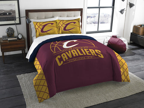 NBA Cleveland Cavaliers Queen/Full Comforter and Sham Set - Bed, Bath, And My Team