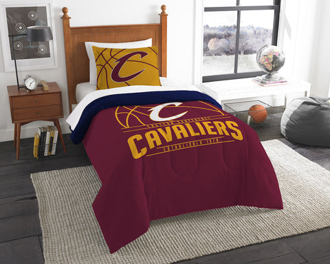 NBA Cleveland Cavaliers Twin Comforter and Pillow Sham - Bed, Bath, And My Team