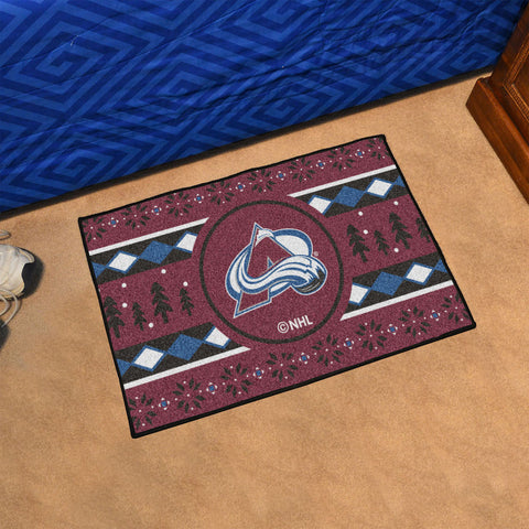 Colorado Avalanche Holiday Sweater Rug