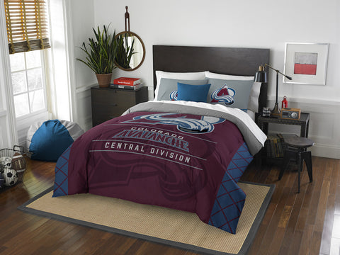 Colorado Avalanche queen/full comforter and 2 shams