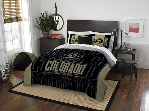 NCAA Colorado Buffaloes Queen/Full Comforter and Sham Set - Bed, Bath, And My Team