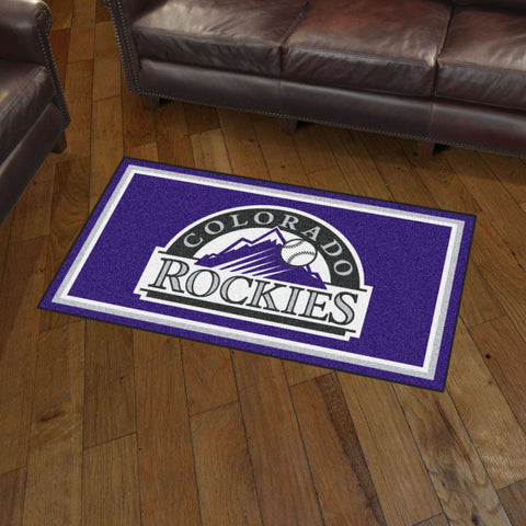 Colorado Rockies 3 x 5 area rug