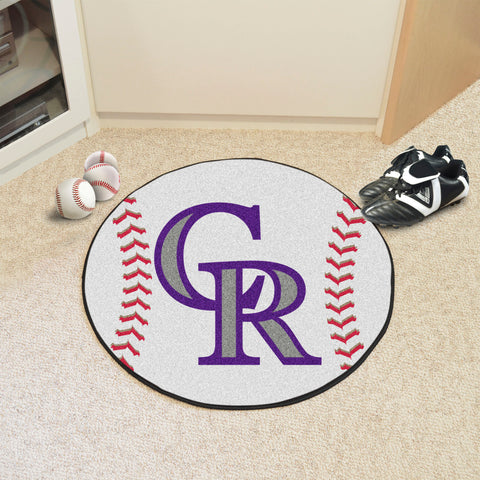 Colorado Rockies Baseball Mat
