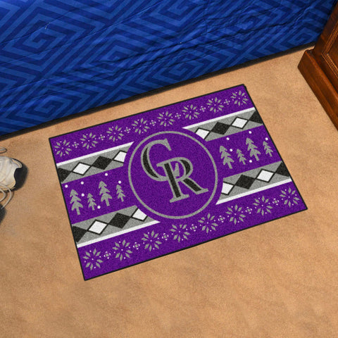 Colorado Rockies Holiday Sweater Rug
