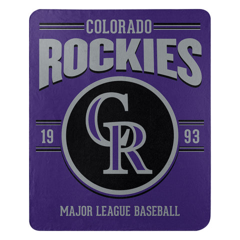 Colorado Rockies Fleece Throw