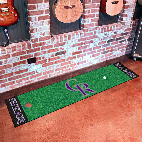 Colorado Rockies Golf Putting Green Mat
