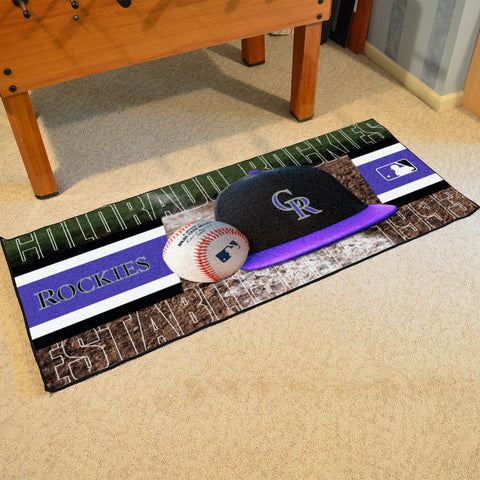 Colorado Rockies Baseball Logo Carpet Runner Rug