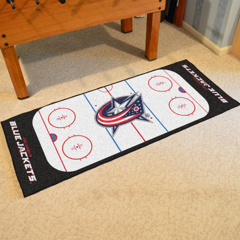 Columbus Blue Jackets Hockey Rink Carpet Runner Rug