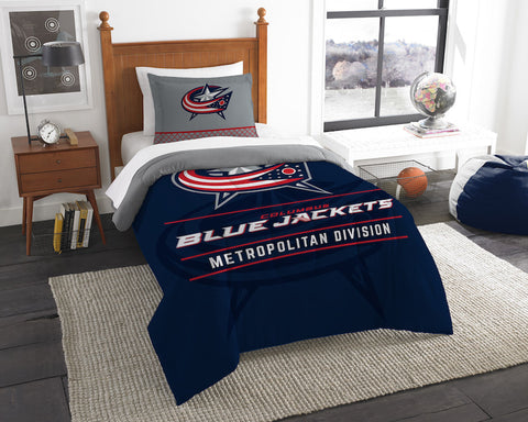 Columbus Blue Jackets twin comforter and pillow sham