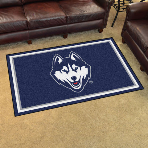 NCAA Connecticut Huskies 4 X 6 Ft. Area Rug - Bed, Bath, And My Team