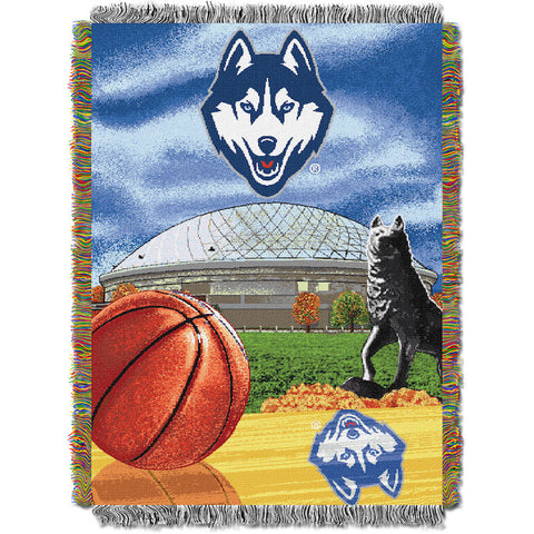 NCAA Connecticut Huskies HOME FIELD ADVANTAGE Tapestry - Bed, Bath, And My Team