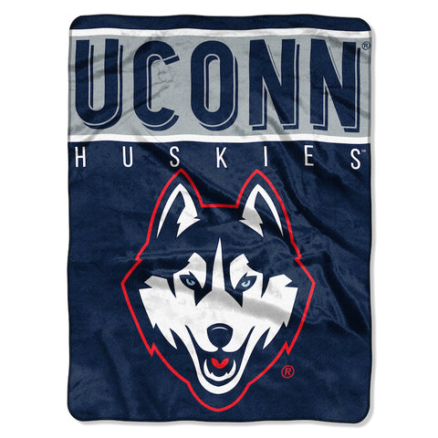 NCAA Connecticut Huskies 60 x 80 Large Plush Raschel Throw Blanket - Bed, Bath, And My Team