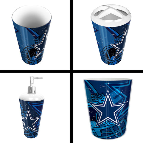 NFL Dallas Cowboys 4 Piece Accessory Bathroom Set - Bed, Bath, And My Team