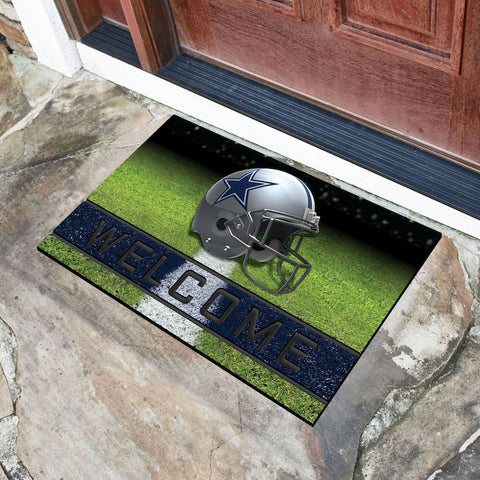 NFL Dallas Cowboys Recycled Rubber CRUMB Doormat - Bed, Bath, And My Team