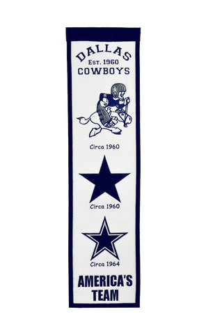 NFL Dallas Cowboys FAN FAVORITE Hanging Wool Banner - Bed, Bath, And My Team