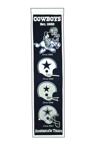 NFL Dallas Cowboys HERITAGE Hanging Wool Banner - Bed, Bath, And My Team
