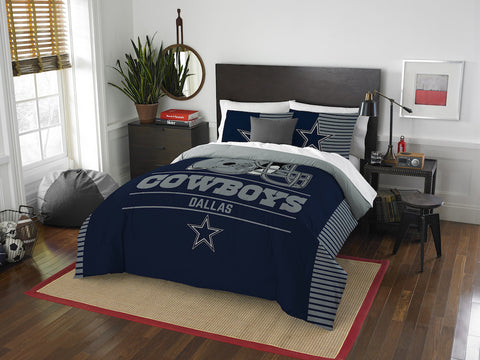 NFL Dallas Cowboys Queen/Full Comforter and Sham Set - Bed, Bath, And My Team