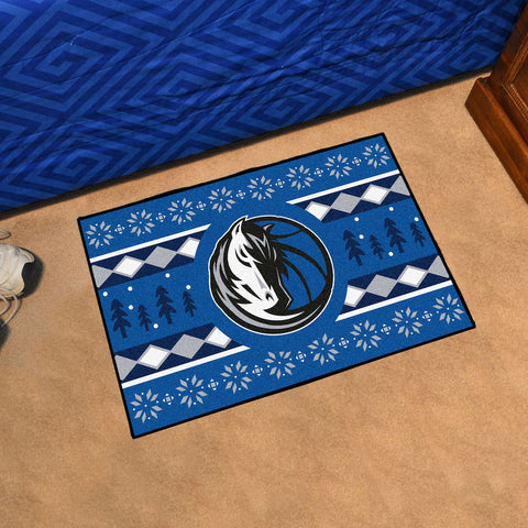 NBA Dallas Mavericks CHRISTMAS SWEATER Starter Rug - Bed, Bath, And My Team