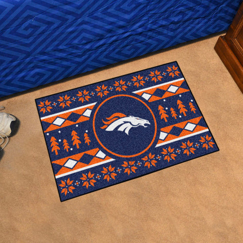 NFL Denver Broncos CHRISTMAS SWEATER Starter Rug - Bed, Bath, And My Team