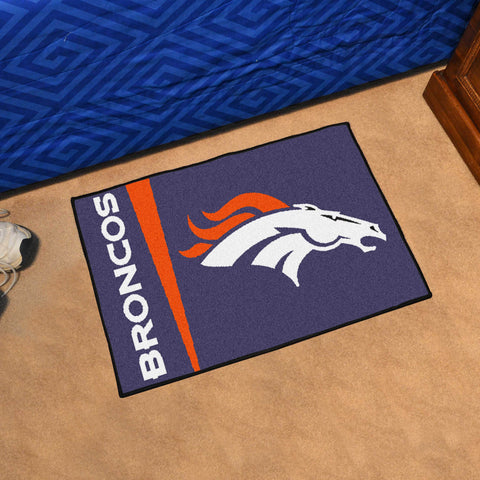NFL Denver Broncos Uniform Inspired STARTER Rug - Bed, Bath, And My Team