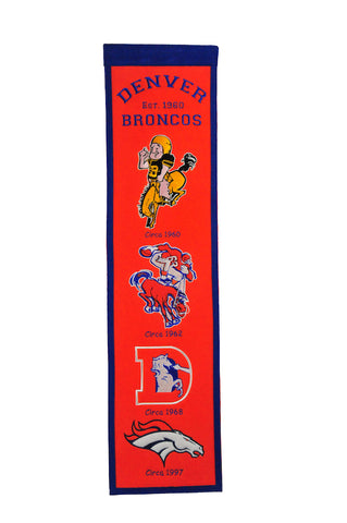 NFL Denver Broncos FAN FAVORITE Hanging Wool Banner - Bed, Bath, And My Team