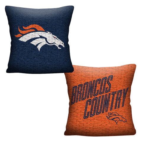 NFL Denver Broncos INVERT Throw Pillow - Bed, Bath, And My Team