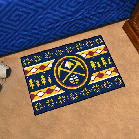 NBA Denver Nuggets CHRISTMAS SWEATER Starter Rug - Bed, Bath, And My Team
