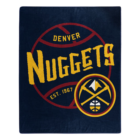 NBA Denver Nuggets 50 x 60 Jersey Raschel Throw Blanket - Bed, Bath, And My Team