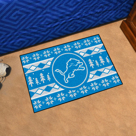 Detroit Lions Holiday Sweater Rug
